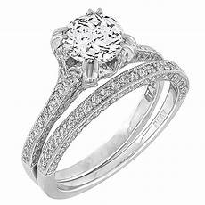 tacori diamond engagement ring and wedding band for