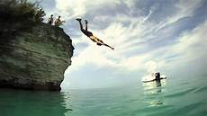 bermuda cliff jumping gopro hd youtube