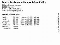 ᐅ Centre Des Impots Limoux Tr 233 Sor Horaires D