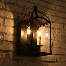 2 light black metal wall lantern interior candle style wall l sconce ebay