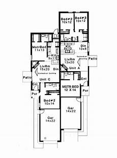 narrow lot duplex house plans multi family house plans narrow lot plougonver com