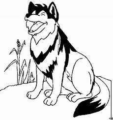jaulender wolf ausmalbild malvorlage comics
