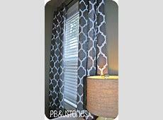 PBJstories: DIY Painted Curtains