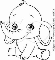 Malvorlagen Baby Elefant Image Detail For Clipart Outlined Sitting Baby Elephant