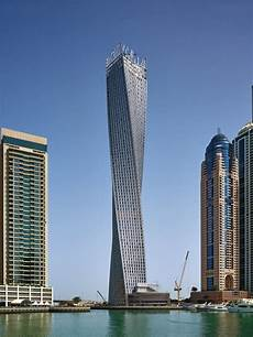 best towers in dubai marina cayan tower designed by skidmore owings merrill