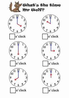 telling the time to o clock half past time worksheets