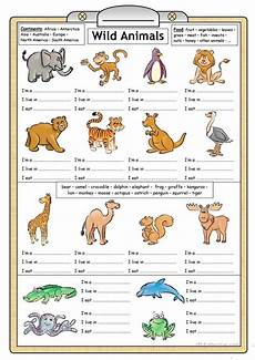 animals and their worksheets 14100 1810 free esl animals worksheets