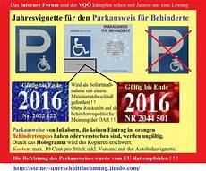 parkausweis für behinderte unbefristet wir brauchen dringend jede unterst 252 tzung steiner