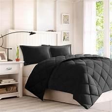 black comforter full queen size 3 piece down