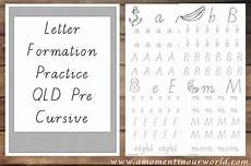 letter formation worksheets queensland 23274 free letter formation practice a moment in our world
