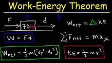 work energy theorem kinetic energy work force