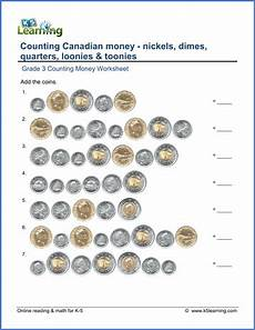 canadian money math worksheets grade 1 2483 grade 3 money worksheet counting canadian coins k5 learning