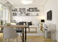 wohn esszimmer einrichten kleines wohnzimmer mit essplatz in wei 223 schwarz und holz