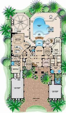 mediterranean house plans with pool mediterranean style house plan 60479 with 5 bed 7 bath 5