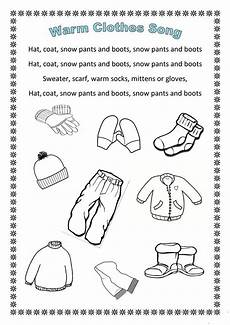 winter clothes worksheets 19966 winter clothes song en hommage to arianey s version worksheet free esl printable worksheets