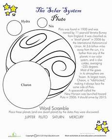 uranus planet worksheet pluto facts worksheet education