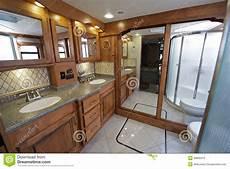 Luxus Rv Badezimmer Stockbild Bild Bequemlichkeit