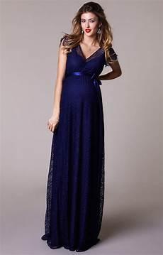 kristin maternity gown indigo blue maternity