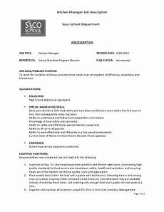 Kitchen Manager Description Pdf by Kitchen Cleanliness Memo Fill Out Print