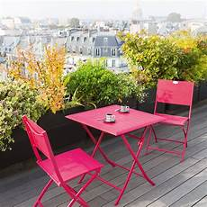 table et chaise de terrasse table de balcon pliante carr 233 e azua cerise hesp 233 ride 2 places