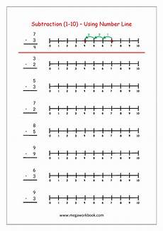 multiplication worksheets number line 4486 subtraction using number line with images kindergarten subtraction worksheets free