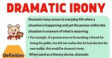 dramatic irony definition and exles in speech
