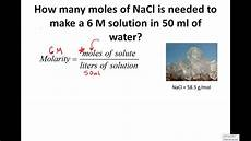 calculating molarity solving for moles grams 4