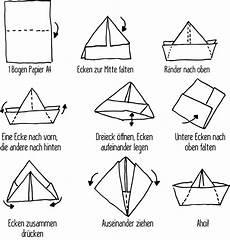 schiffchen falten anleitung schiff ahoi schiff basteln papierschiff basteln und