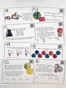 probability compound events worksheets 5766 probability of simple and compound events task cards task cards cards 7th grade math