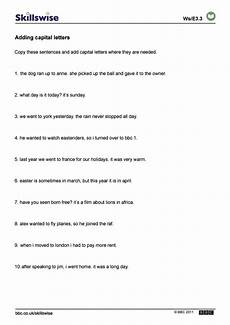 punctuation practice worksheets uk 20912 stops and capital letters worksheet ks2 breadandhearth