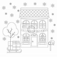 malvorlage haus weihnachten coloring and malvorlagan