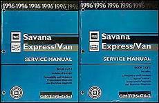 service and repair manuals 1996 chevrolet express 1500 instrument cluster 1996 chevy express gmc savana van repair shop manual set 96 g1500 g2500 g3500 ebay