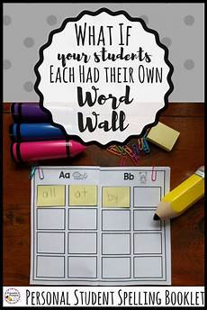 note spelling worksheets 22477 student sticky note spelling booklet personal word wall word wall kindergarten word work