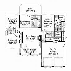 1500 sq feet house plans traditional style house plan 3 beds 2 baths 1500 sq ft