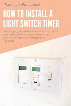 how to install a programmable wall light switch timer
