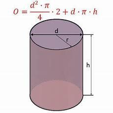 zylinder berechnen fl 228 che und volumen am zylinder