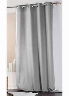 rideaux gris rideau en coton et uni gris ecru