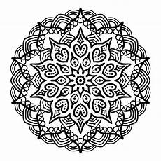 Mandala Malvorlagen Xl Black Mandala For Coloring Stock Vector Illustration Of