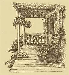 veranda dwg ink drawing comfortable rocking chairs on the veranda