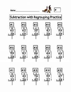 subtraction with regrouping worksheets with boxes 10735 digit addition and subtraction with regrouping worksheets