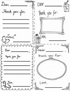 Thank You Card Template Pages by Quot Thank You Quot Cards Coloring Sheets