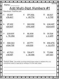 multi digits addition and subtraction worksheet 4th grade addition subtraction worksheets multi digit