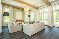 gray wood floors cottage living room pizitz home and