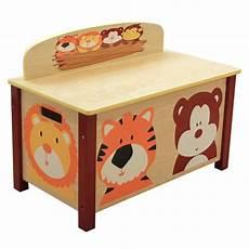 coffre 224 jouets enfant en bois motif animaux dim h 49