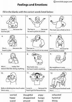 kids pages feelings matching 2 b therapy worksheets