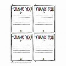 thank you card template for students from thank you printable jennie moraitis