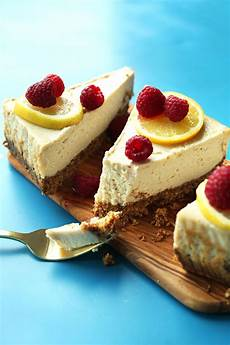 easy baked cheesecake vegan gf minimalist baker recipes
