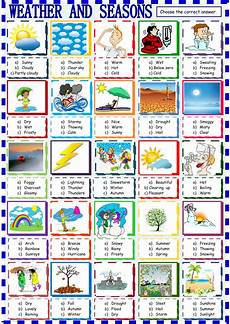 weather worksheets esl adults 14493 weather and seasons choice interactive worksheet