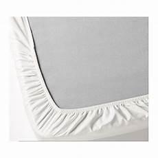 ikea knoppa white fitted sheet standard quality single corner bed size elastic ebay