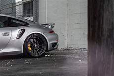 porsche 911 turbo s serving well done wheels on a silver